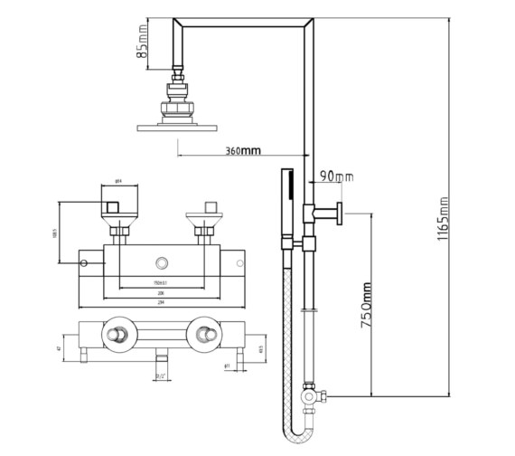 Technical drawing QS-V25790 / BEO-2129