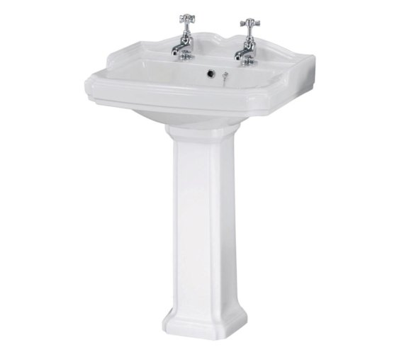 Beo Victorian 580mm 2 Tap Hole Basin And Pedestal