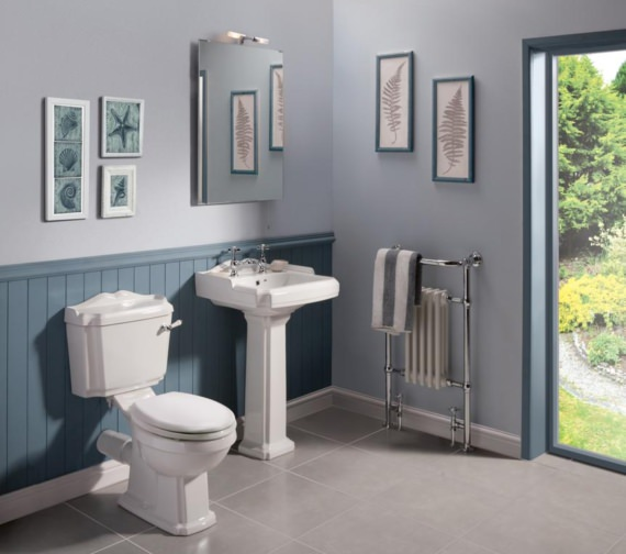 Premier Victorian 580mm 2 Tap Hole Basin And Pedestal
