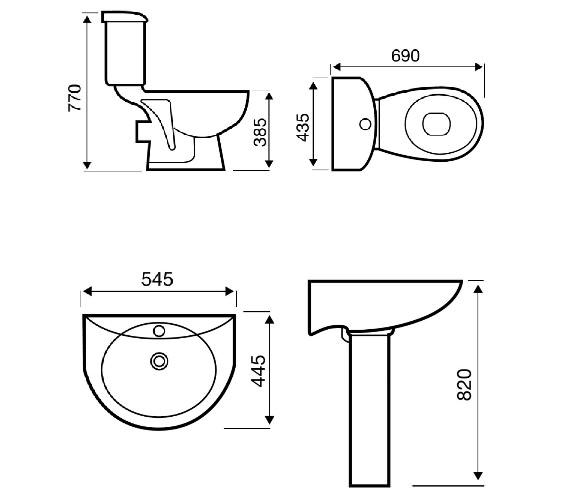 Technical drawing QS-V1010 / POT180G4K