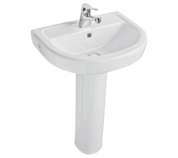 Aqva Milan 550mm Basin And Full Pedestal