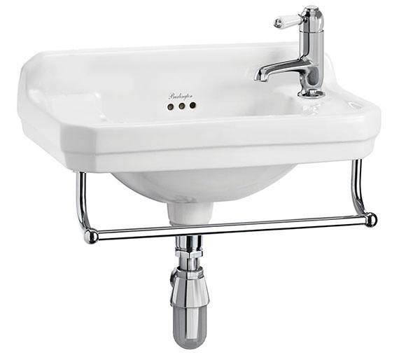 Burlington Edwardian 510mm Cloakroom Basin With Towel Rail