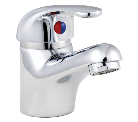 Aqva Barra Chrome Basin Mixer Tap Including Pop-Up Waste