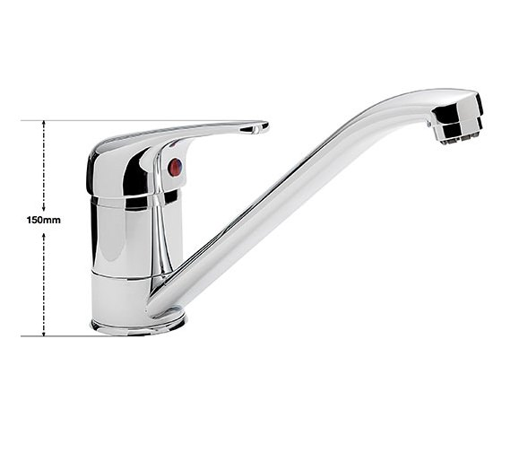 Alternate image of Aqva Java Kitchen Sink Mono-bloc Tap With Push Button Waste