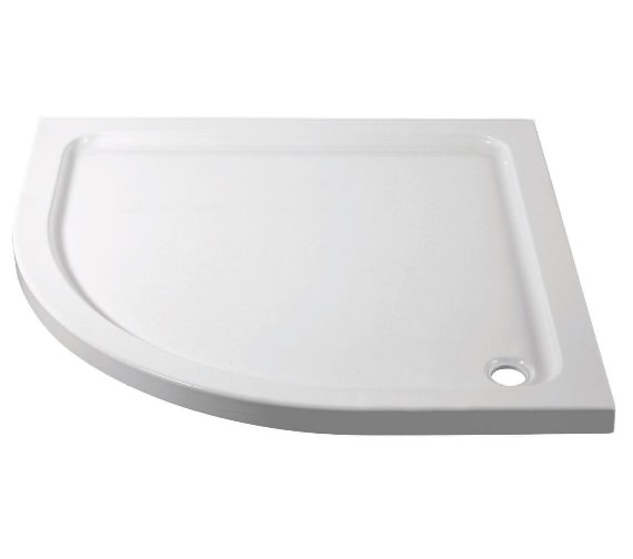 Aqva 800 x 800mm Quadrant Stone Resin Shower Tray