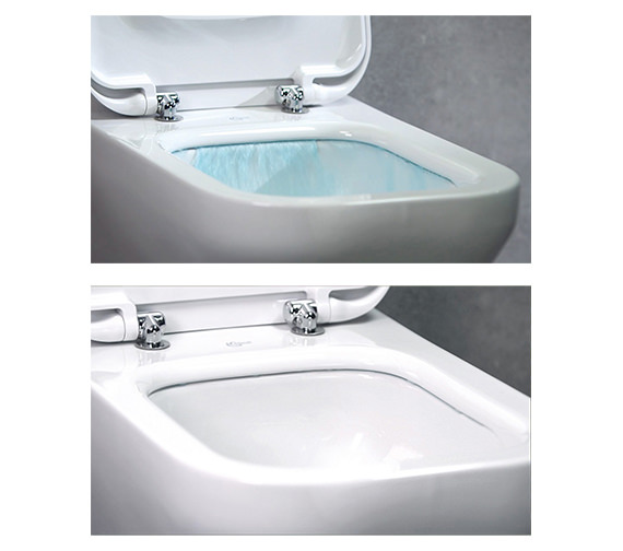 Ideal Standard Tesi Aquablade Close Coupled Back-To-Wall WC Pan 665mm