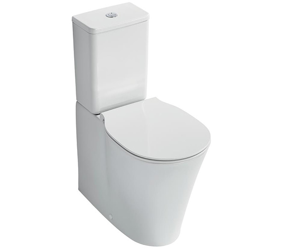 Ideal Standard Concept Air Aquablade Close Coupled Back-To-Wall WC Pan 665mm