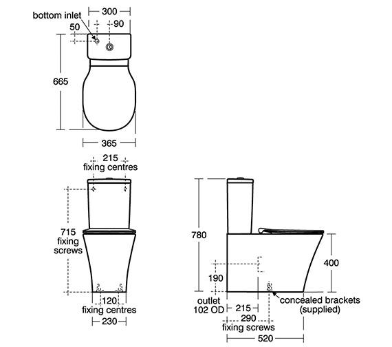 Technical drawing QS-V84325 / E079801