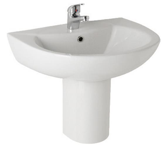 Aqva Estrill 545mm 1 Tap Hole Basin And Semi Pedestal