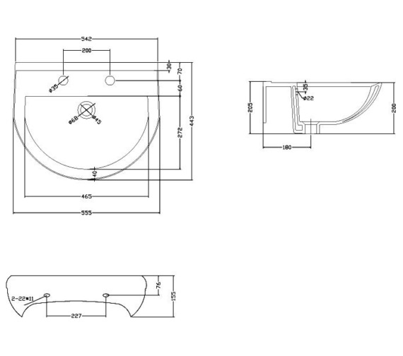 Technical drawing QS-V72764 / BEO-2199
