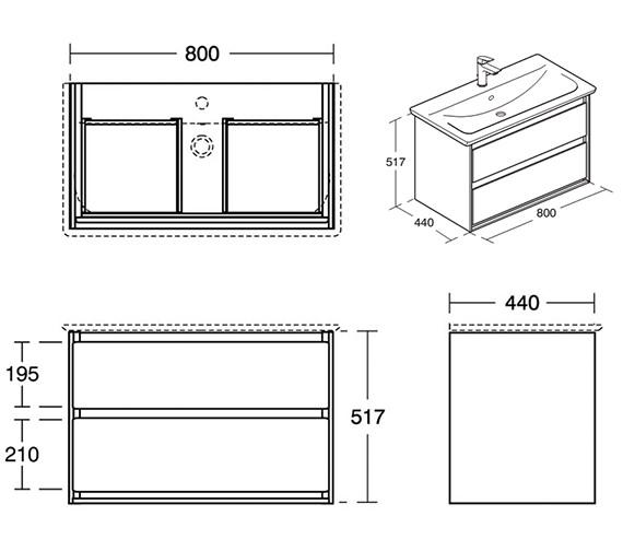 Technical drawing QS-V8419 / E0819EQ