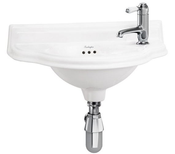 Burlington Small 500mm Curved Front Cloakroom Basin