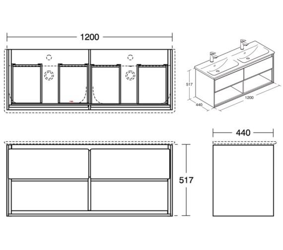 Technical drawing QS-V8421 / E0829B2