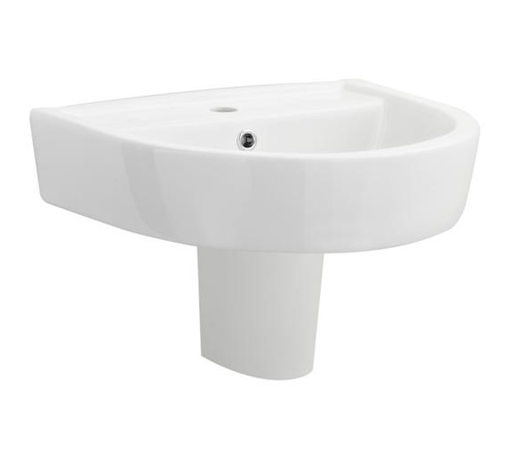 Beo Elation 520mm 1 Tap Hole Basin And Semi Pedestal