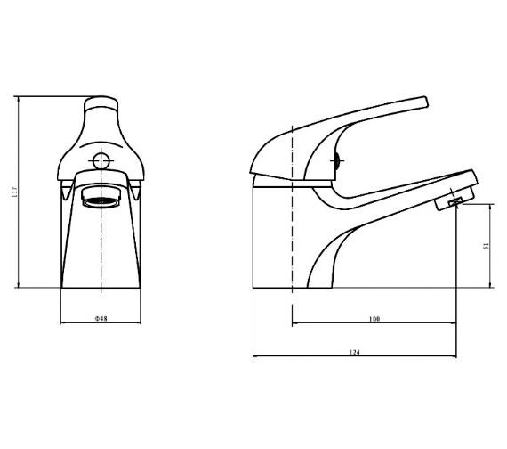 Aqva Java Mono Basin Mixer Tap With Click Waste