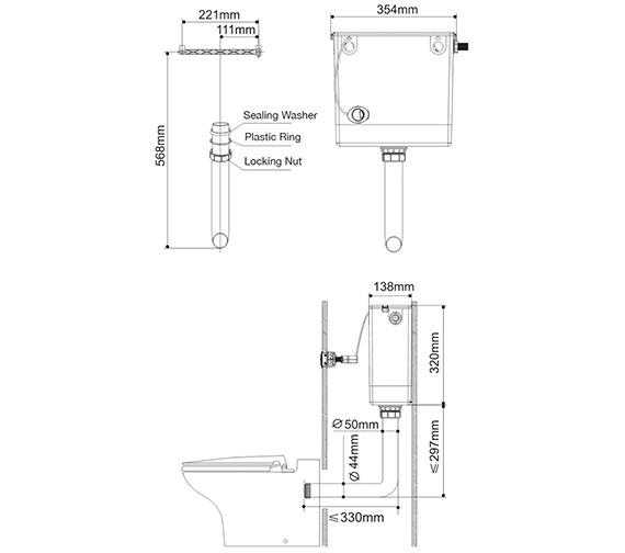 Technical drawing QS-V82231 / HIDECISTN