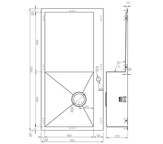 Technical drawing QS-V9143 / ZU/5/IF/S/BBR/026