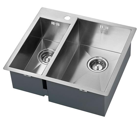 1810 Company Zenduo 180-310mm I-F 1.5 Bowl Kitchen Sink - Big Bowl Right