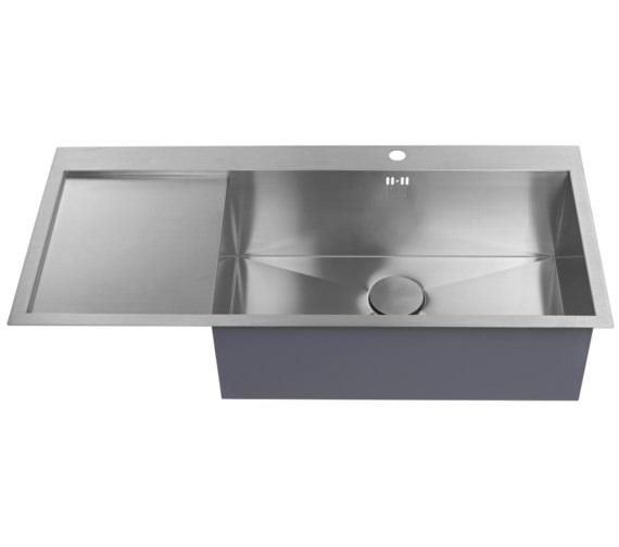 Additional image of 1810 Company Zenuno 70 I-F Deep BBR 1.0 Bowl Kitchen Sink With Left Hand Drainer