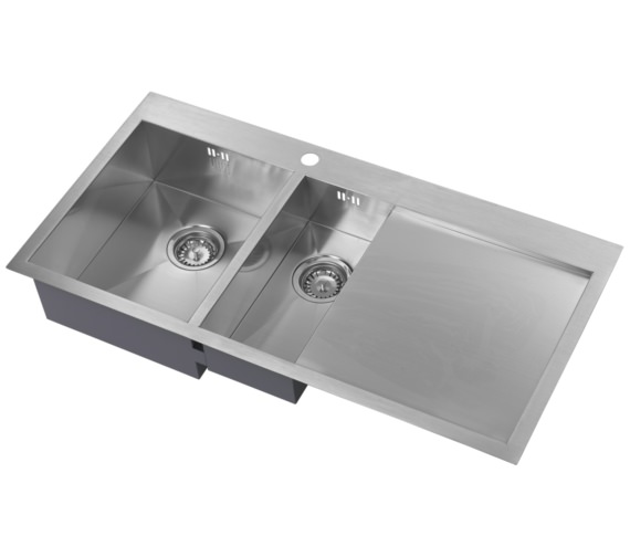 1810 Company Zenduo 6 I-F BBL 1.5 Bowl Kitchen Sink With Right Hand Drainer