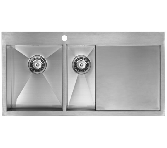Additional image of 1810 Company Zenduo 6 I-F BBL 1.5 Bowl Kitchen Sink With Right Hand Drainer