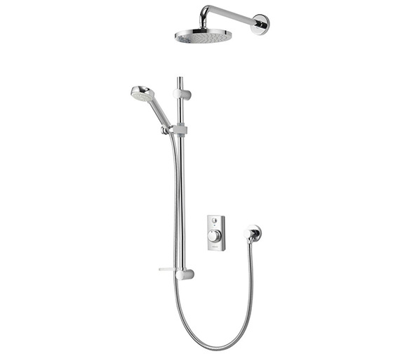 Aqualisa Visage Digital Divert Hand Shower And Wall Drencher-Gravity Pumped