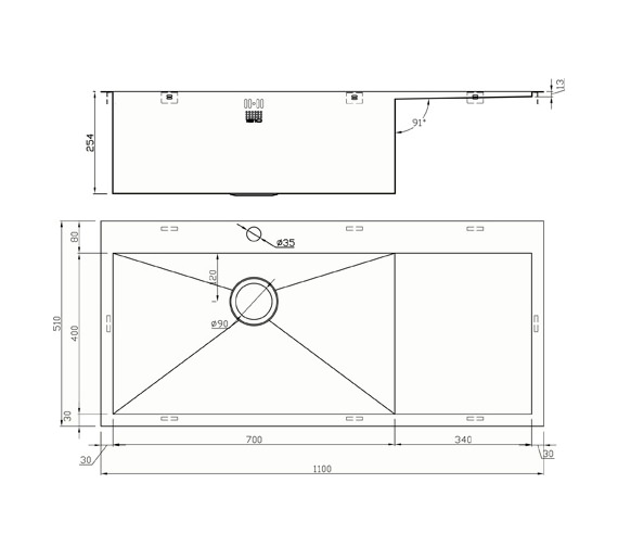 Technical drawing QS-V9145 / ZU/70/IF/D/S/BBL/040