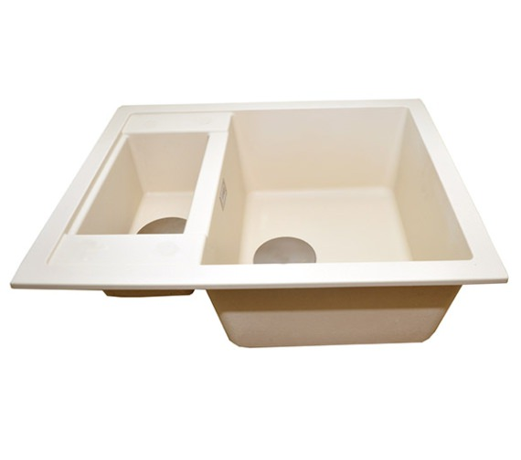 Alternate image of 1810 Company Purquartz Shardduo 615i 1.5 Bowl Inset Sink