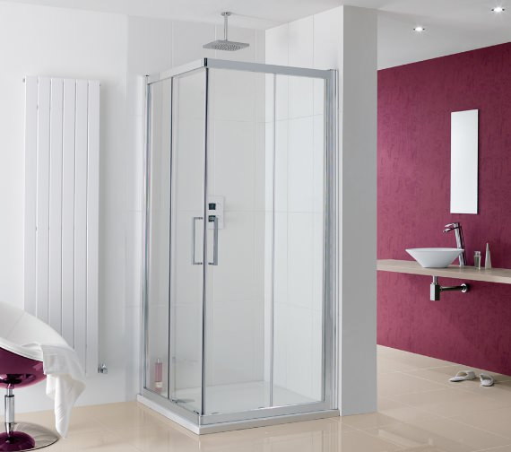 Lakes Coastline Malmo Silver Corner Entry Shower Enclosure 700 x 2000mm