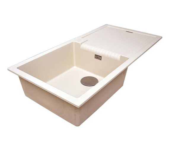 Alternate image of 1810 Company Purquartz Sharduno 100i 1.0 Bowl Sink Grey With Drainer Black