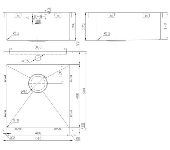 Technical drawing QS-V9149 / ZU/40/IF/U15/S/089