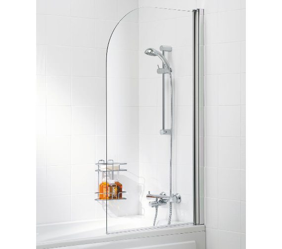 Lakes Classic 8mm Curved Single Panel Bath Screen 800 x 1400mm
