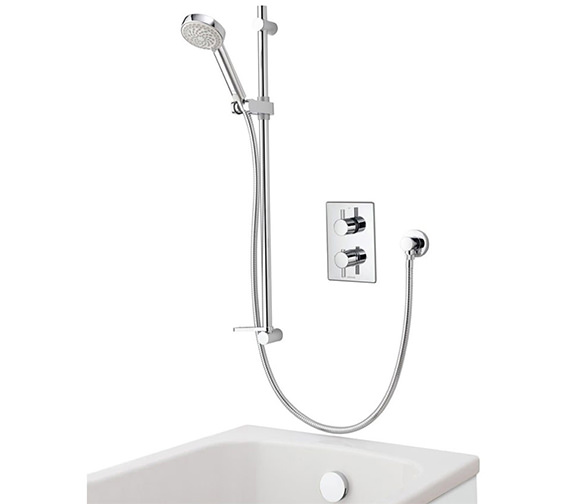 Aqualisa Dream DCV Concealed Thermostatic Shower Slide Rail And Bath Fill