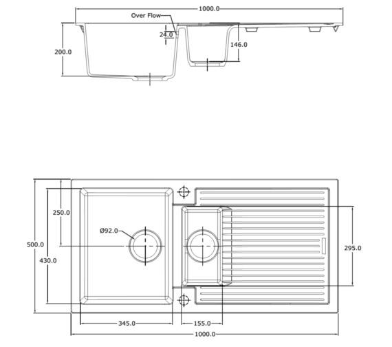 Technical drawing QS-V10962 / SD/150/I/PQ/REV/BL/820