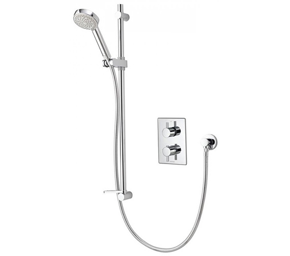 Aqualisa Dream DCV Concealed Thermostatic Shower Valve With Slide Rail Kit