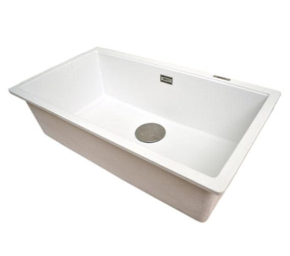 Additional image of 1810 Company Purquartz Cavauno 720U 1.0 Bowl Undermount Sink White