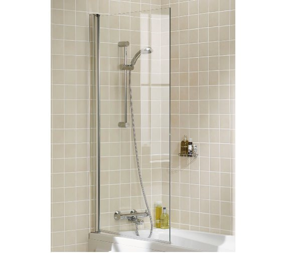 Lakes Classic 8mm Square Single Panel Bath Screen 800 x 1500mm