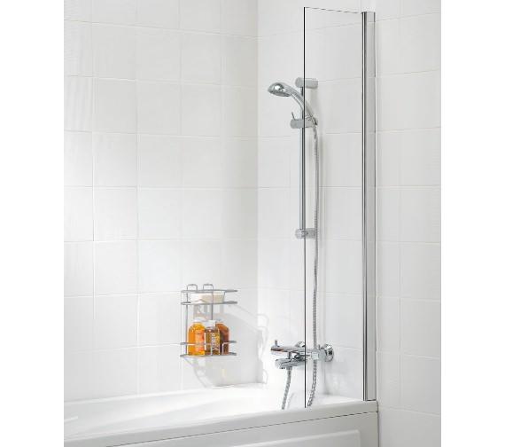 Lakes Classic Shower Curtain Panel Bath Screen 300 x 1500mm Silver