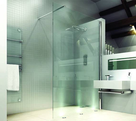 Merlyn 8 Series 700mm Showerwall With MStone Tray 1200 x 900mm