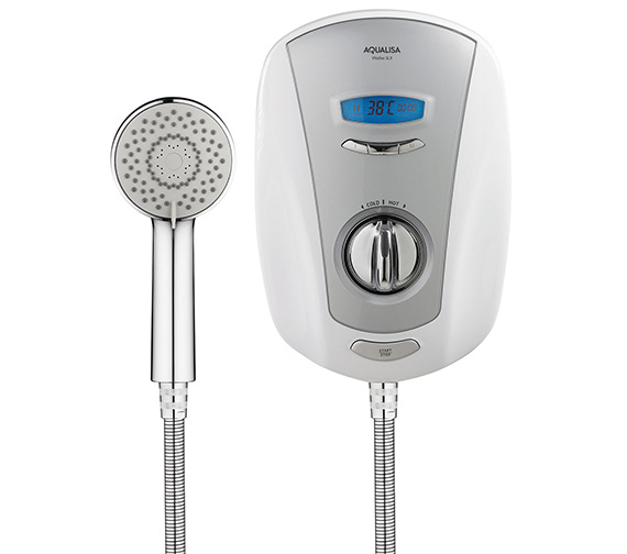 Additional image of Aqualisa Vitalise SLX White And Chrome Electric Shower 9.5kW