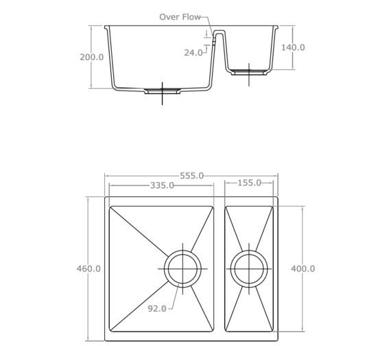 Technical drawing QS-V10989 / CD/3315/U/PQ/REV/WH/721