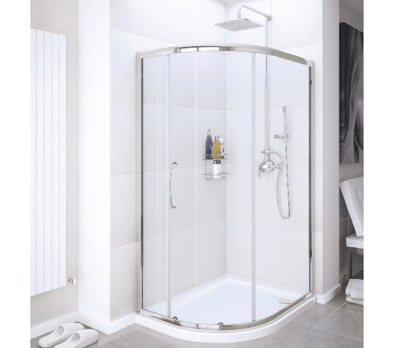 Lakes Classic Single Door Offset Quadrant Shower Enclosure 900 x 800mm