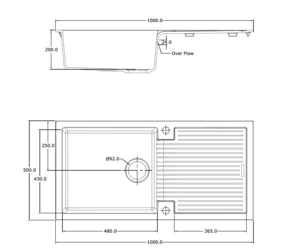Technical drawing QS-V10959 / SU/100/I/PQ/REV/WH/811