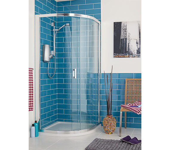 Additional image of Aqualisa Aquastream Thermo Satin Chrome Slide Rail Power Shower