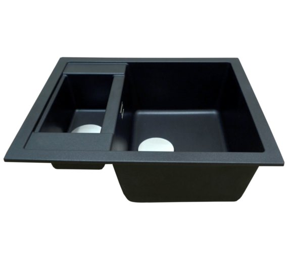 Additional image of 1810 Company Purquartz Shardduo 615i 1.5 Bowl Inset Sink