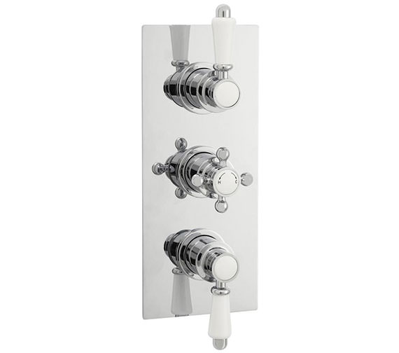Nuie Victorian Rectangular Triple Concealed Thermostatic Shower Valve