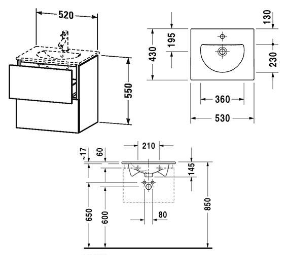Technical drawing QS-V63808 / LC626001818