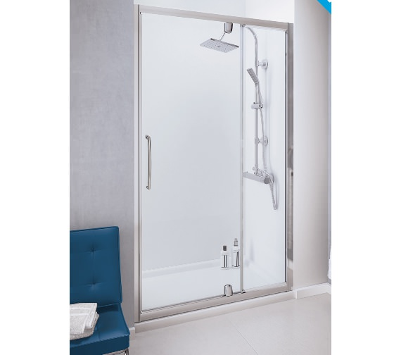 Lakes Classic 1000mm Semi-Frameless Pivot Door With Integrated In-line Panel