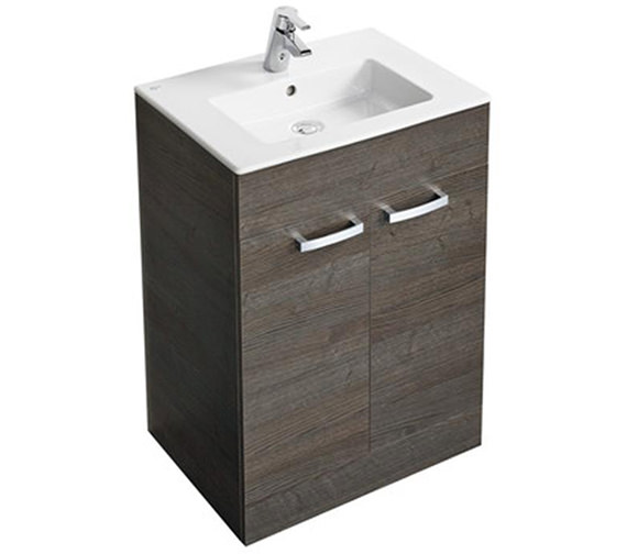 Ideal Standard Tempo 500mm Floor Standing 2 Door Sandy Grey Vanity Unit