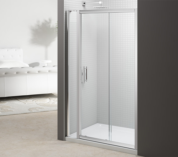 Merlyn 6 Series 1400mm Sliding Door And 140mm Inline Panel